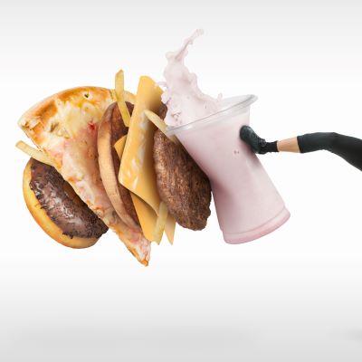Trap tegen junkfood