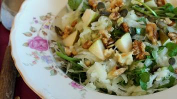 Lunchsalade met koolrabi, waterkers en walnoten 6