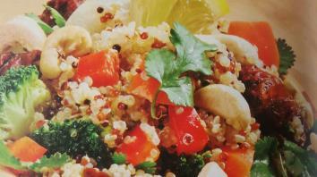 Quinoa met groenten en cashewnoten 5