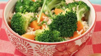 Rijst met broccoli en kruiden 4
