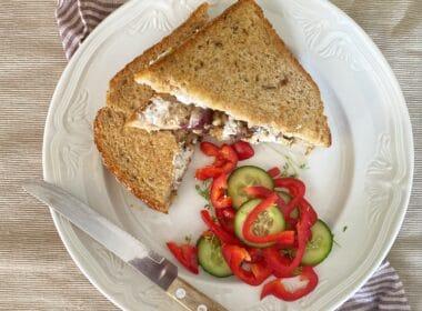 Warme sandwich met shiitake 13