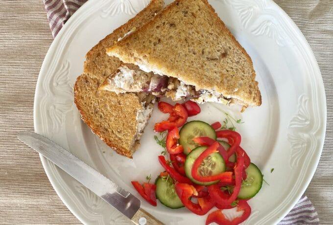 Warme sandwich met shiitake 12