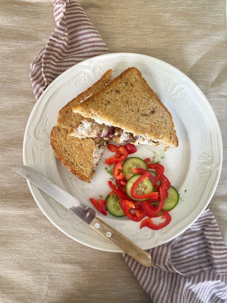 Warme sandwich met shiitake 3