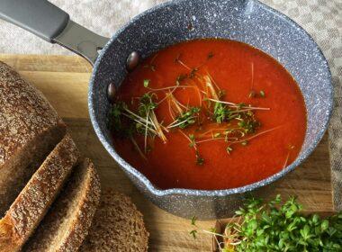 Tomatensoep met bleekselderij 4