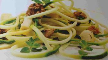 Courgettespaghetti met peer en walnoot 4