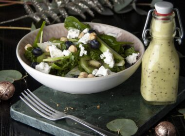 Groene salade met kiwidressing 4