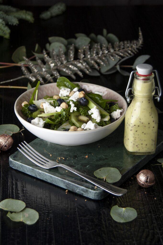 Groene salade met kiwidressing 3